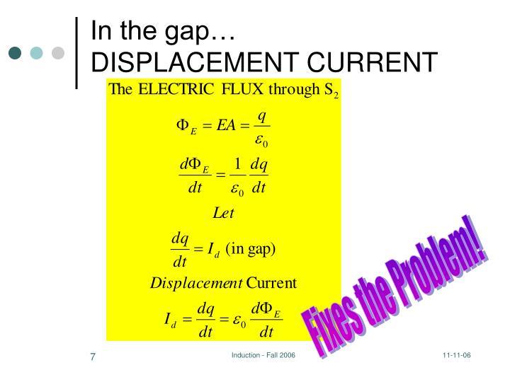 In the gap…