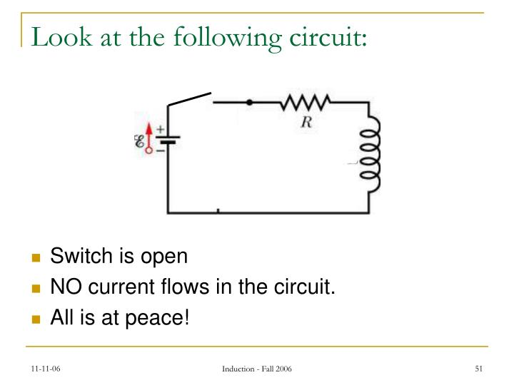 Look at the following circuit: