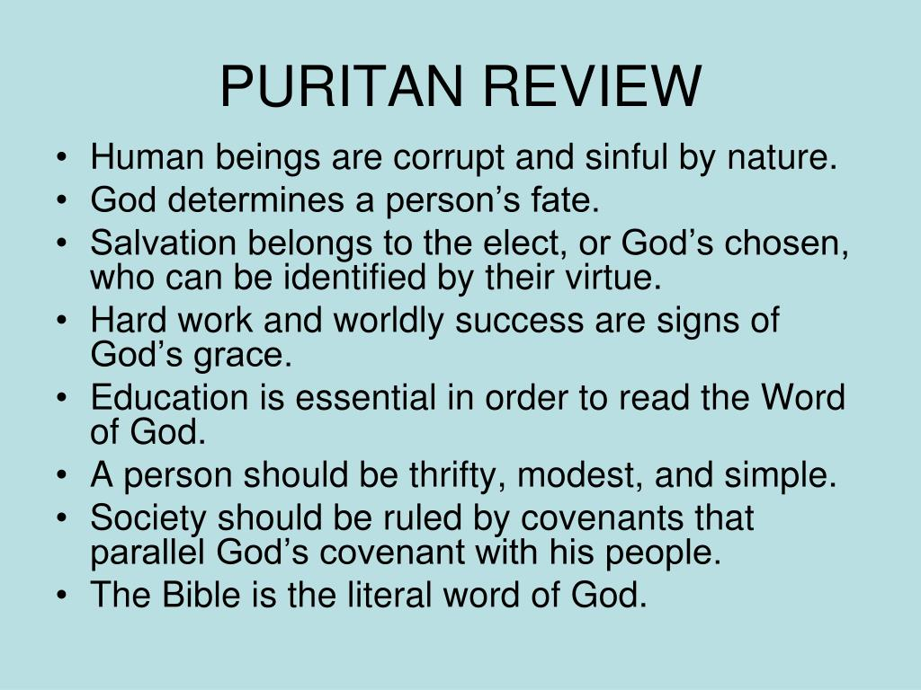 PURITAN REVIEW