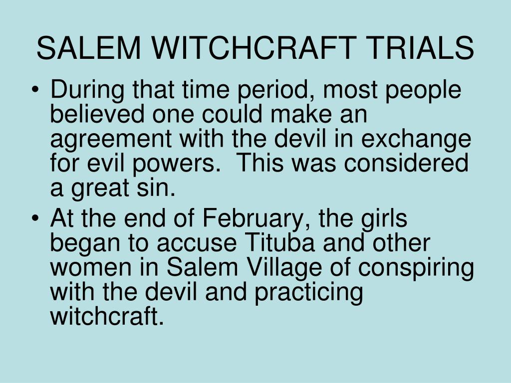 SALEM WITCHCRAFT TRIALS