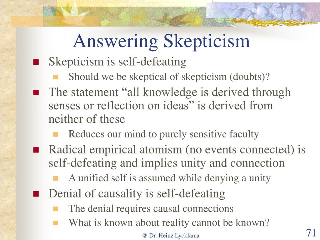 Answering Skepticism