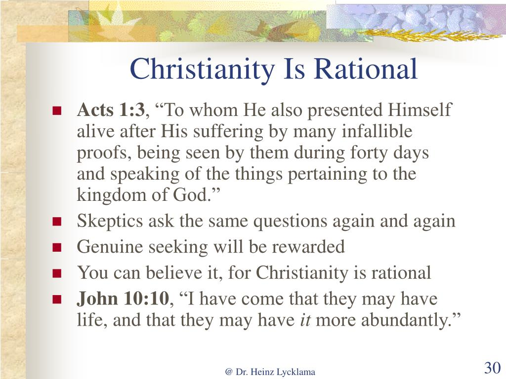 Christianity Is Rational