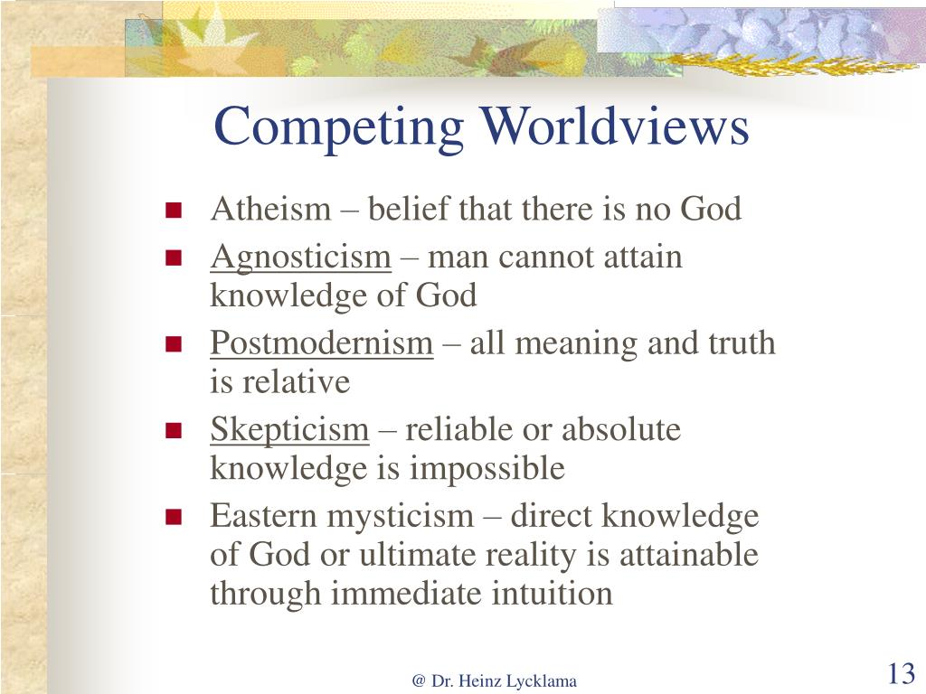 Competing Worldviews