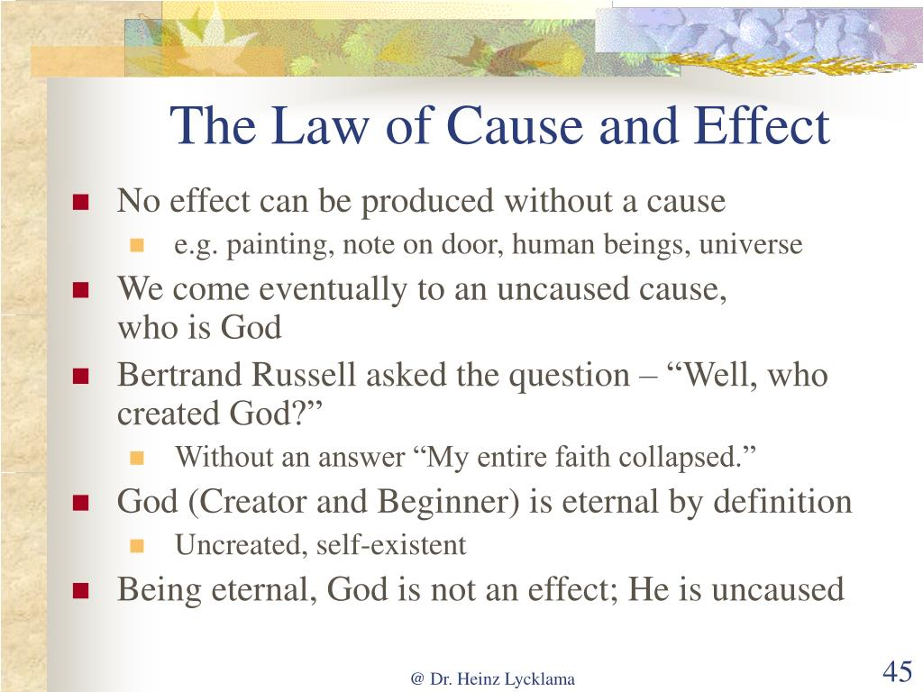 The Law of Cause and Effect