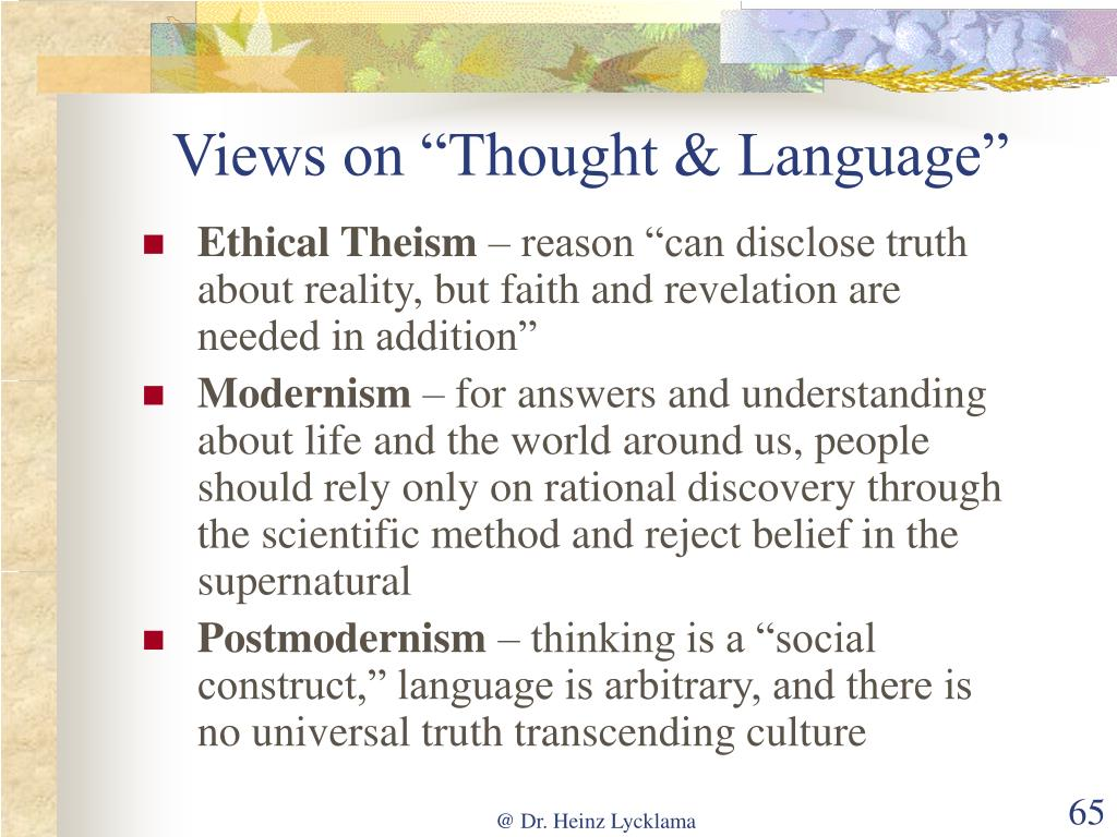 "Views on ""Thought & Language"""