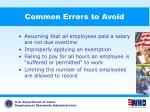 common errors to avoid86