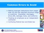 common errors to avoid88