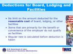 deductions for board lodging and facilities