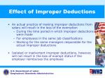 effect of improper deductions