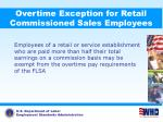 overtime exception for retail commissioned sales employees