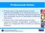 professional duties