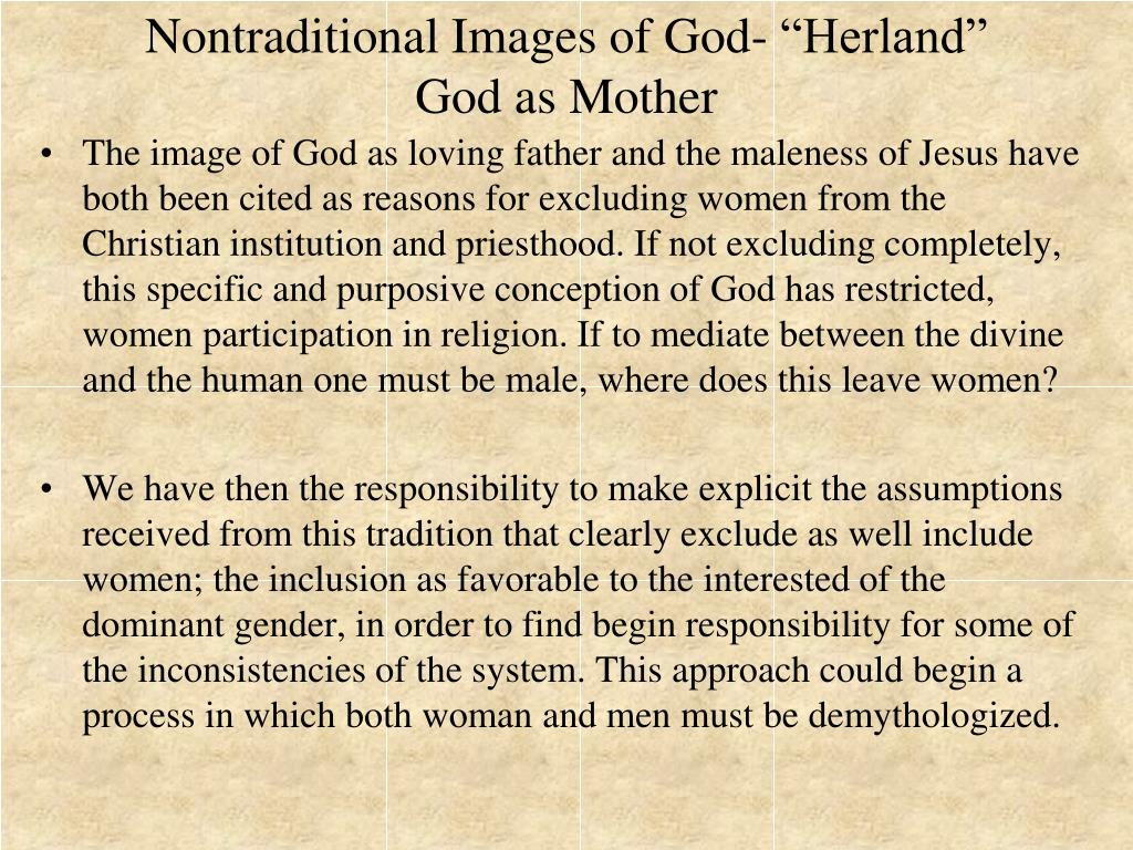 "Nontraditional Images of God- ""Herland"""