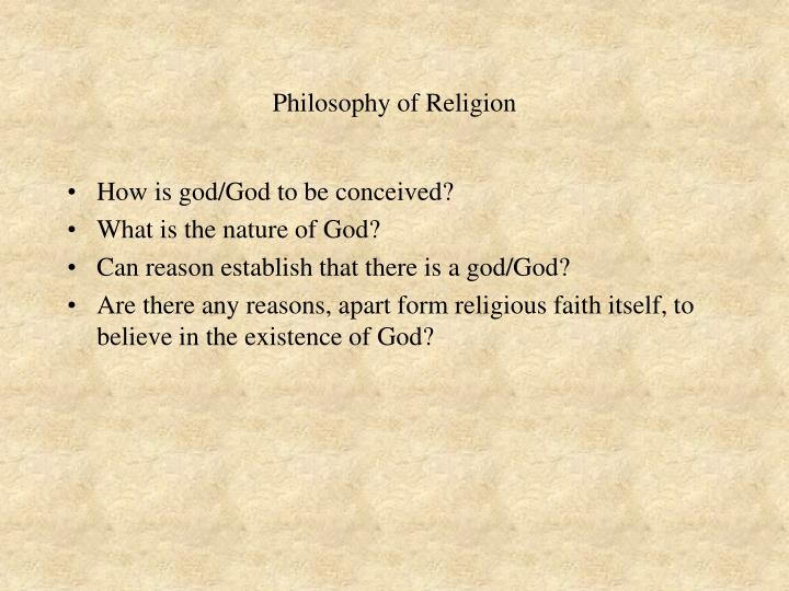 Philosophy of religion3