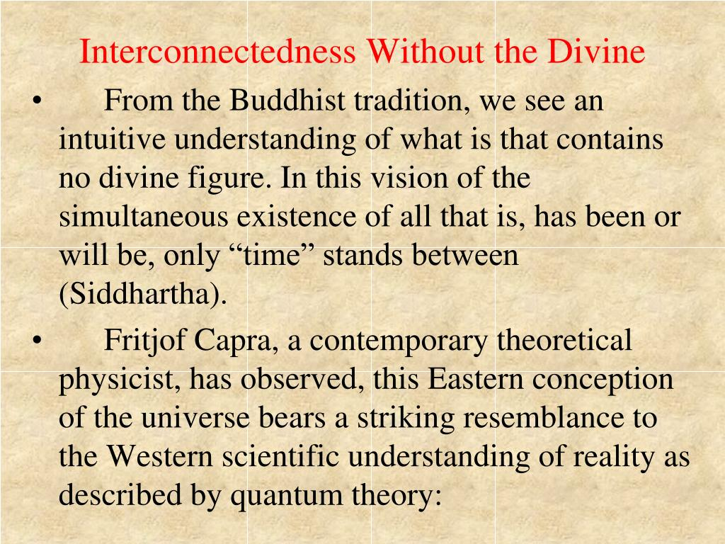Interconnectedness Without the Divine