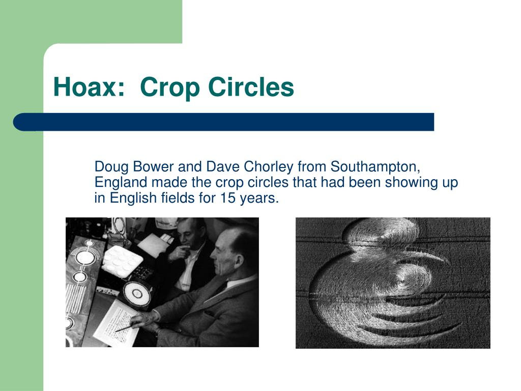 Hoax:  Crop Circles