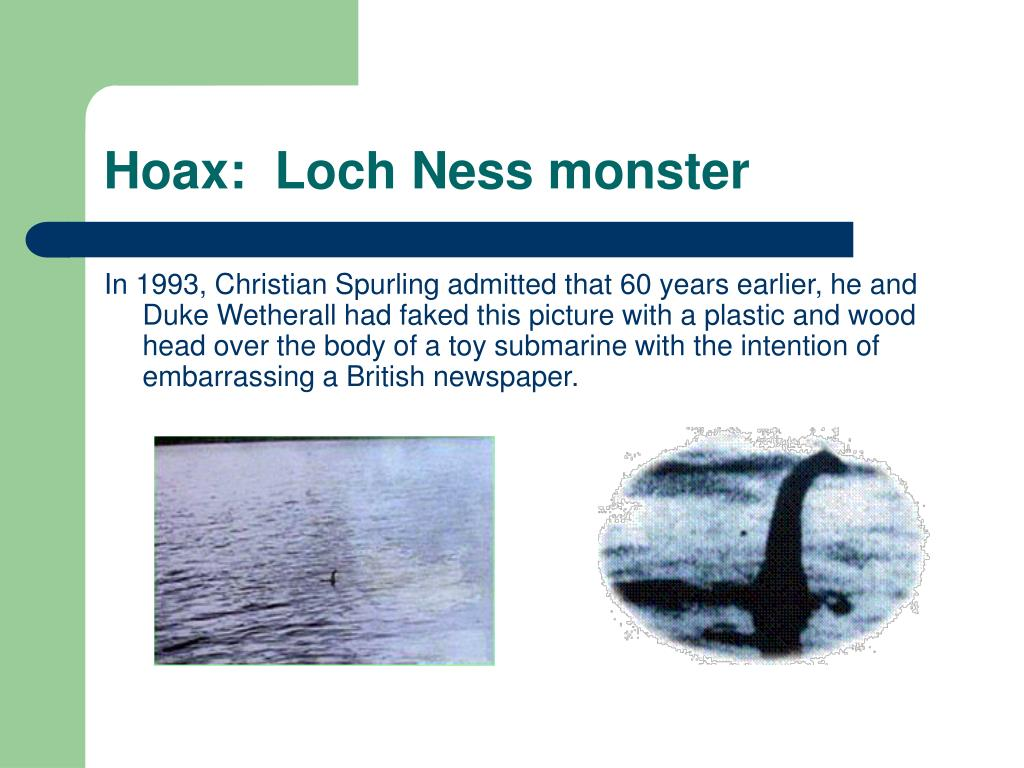 Hoax:  Loch Ness monster
