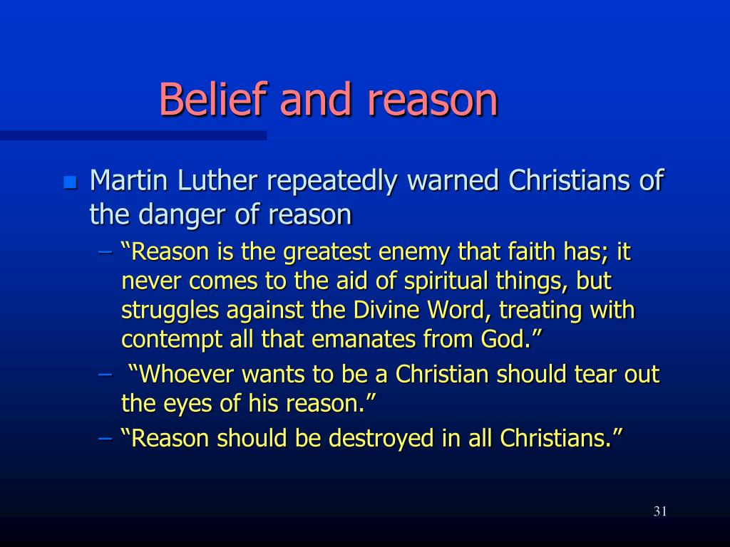 Belief and reason