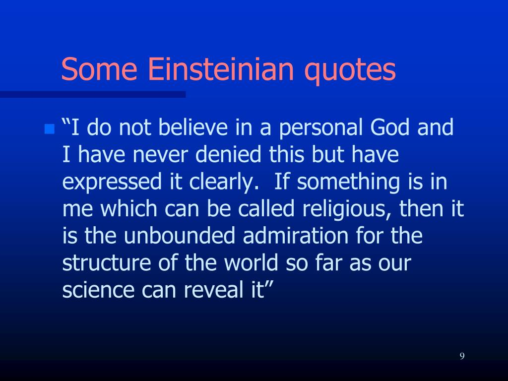Some Einsteinian quotes