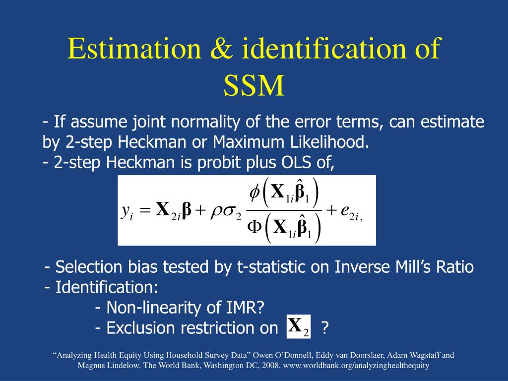 Estimation & identification of SSM