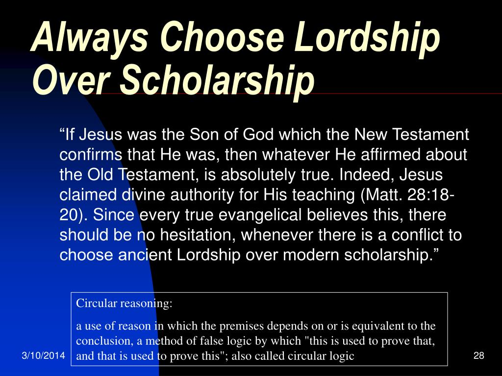 Always Choose Lordship Over Scholarship