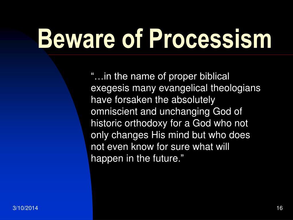 Beware of Processism