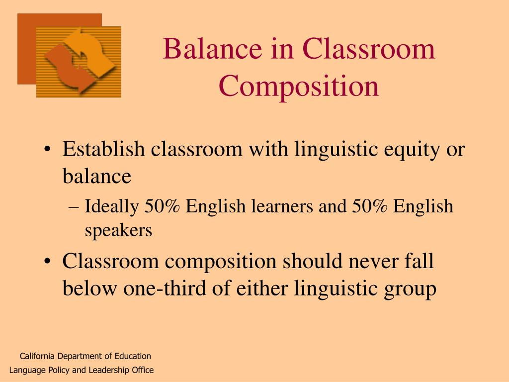Balance in Classroom Composition