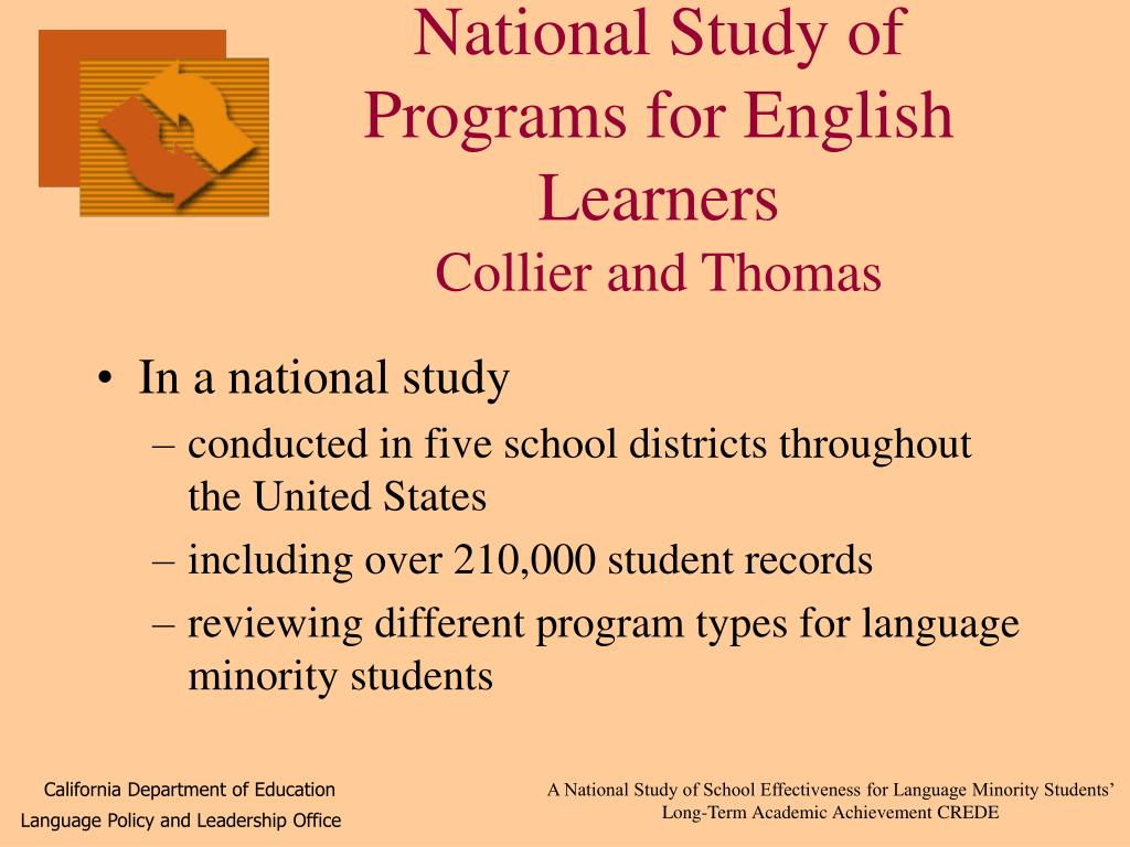 National Study of Programs for English Learners