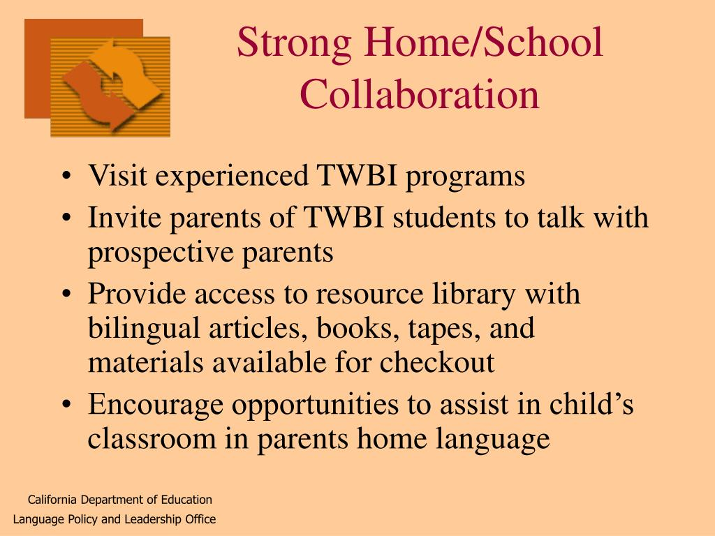 Strong Home/School Collaboration