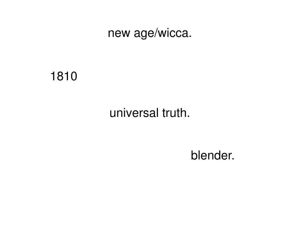 new age/wicca.