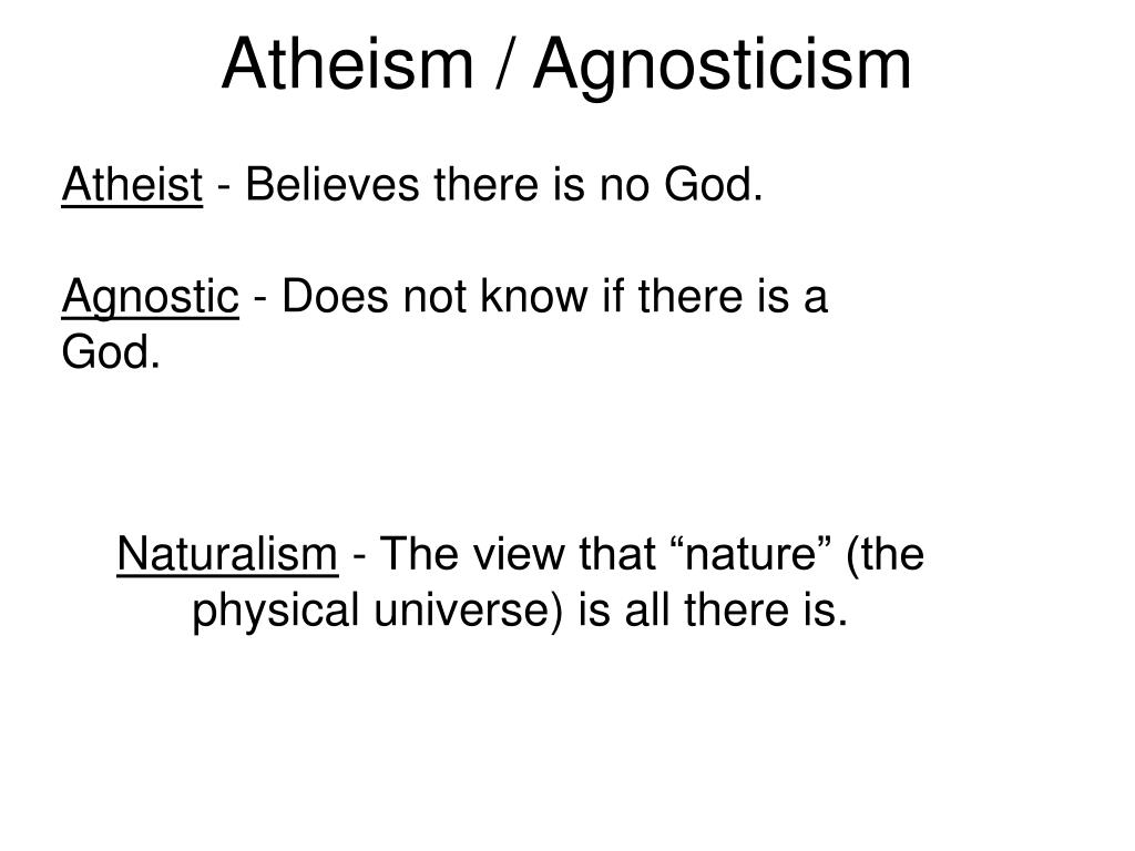Atheism / Agnosticism