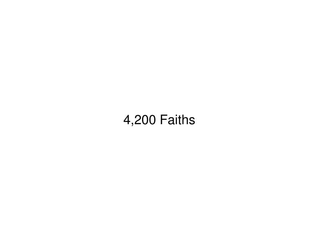 4,200 Faiths