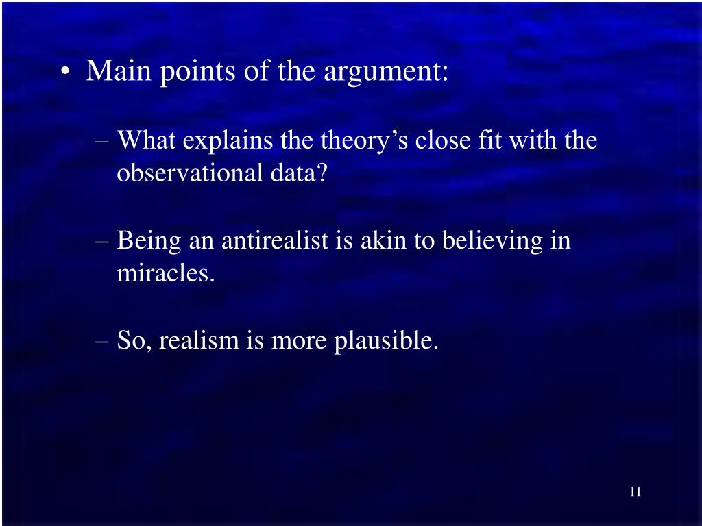 Main points of the argument: