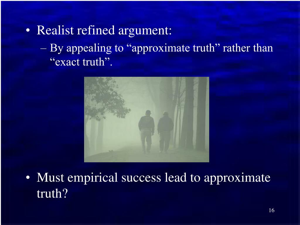 Realist refined argument: