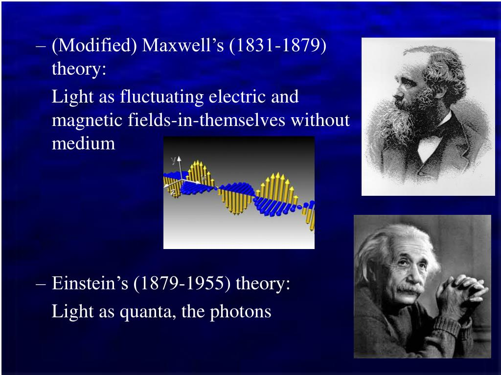 (Modified) Maxwell's (1831-1879) theory: