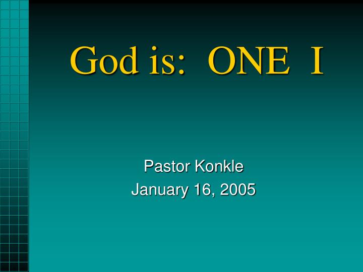 God is one i