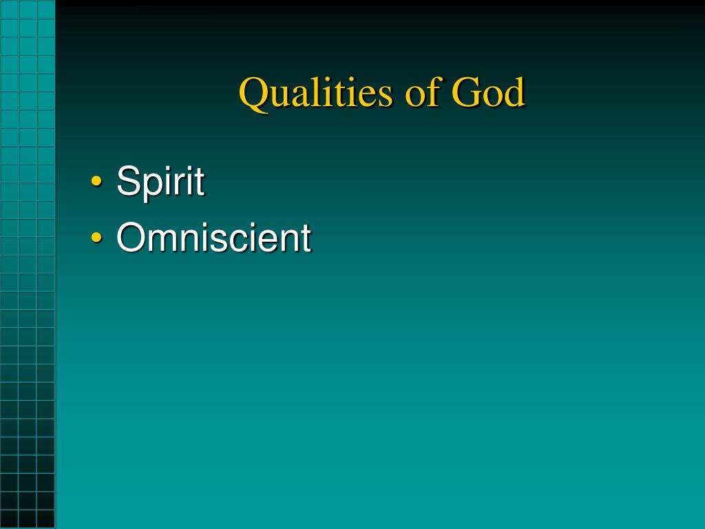 Qualities of God