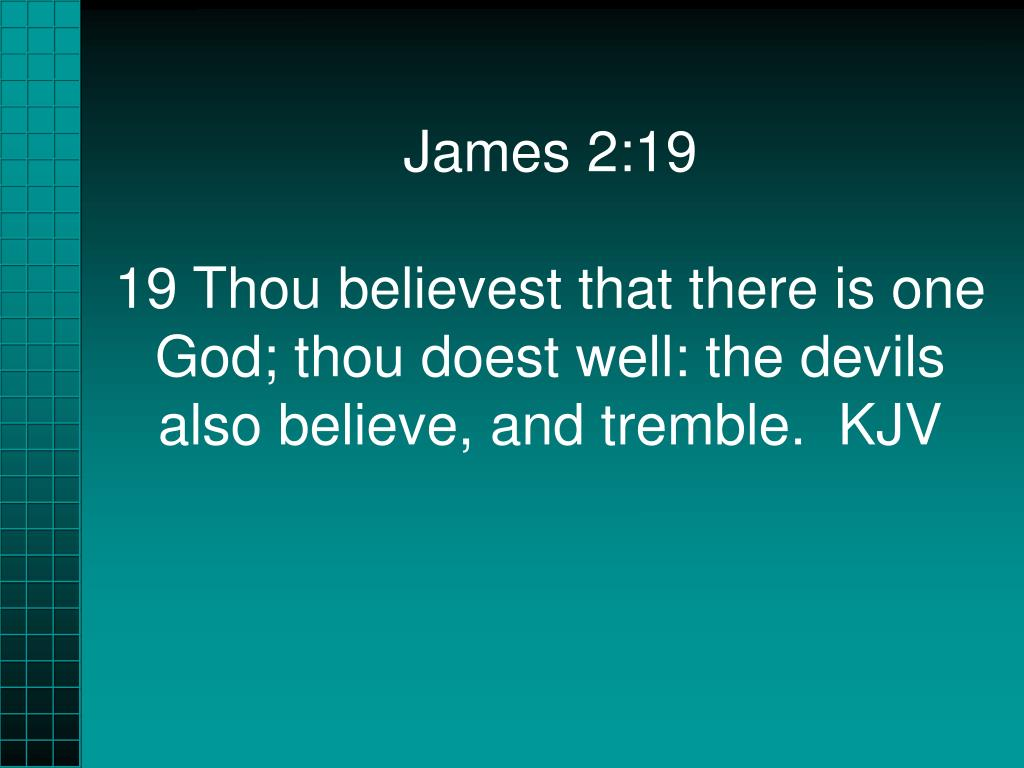 James 2:19