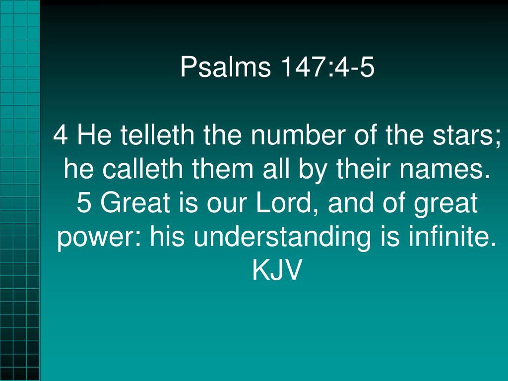 Psalms 147:4-5