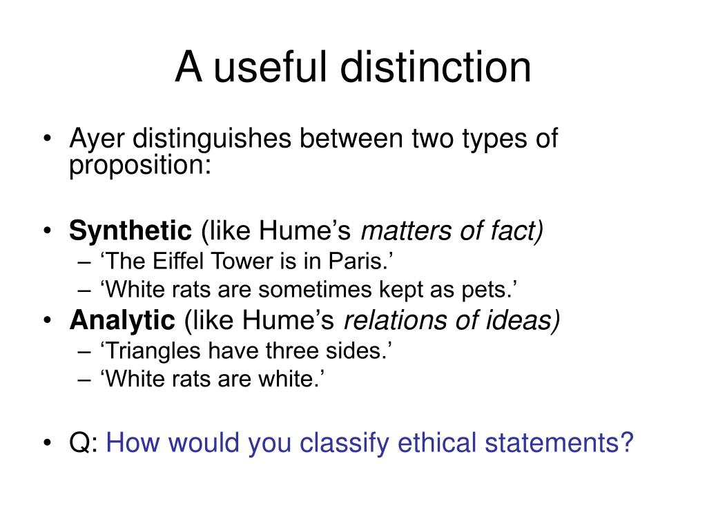 A useful distinction