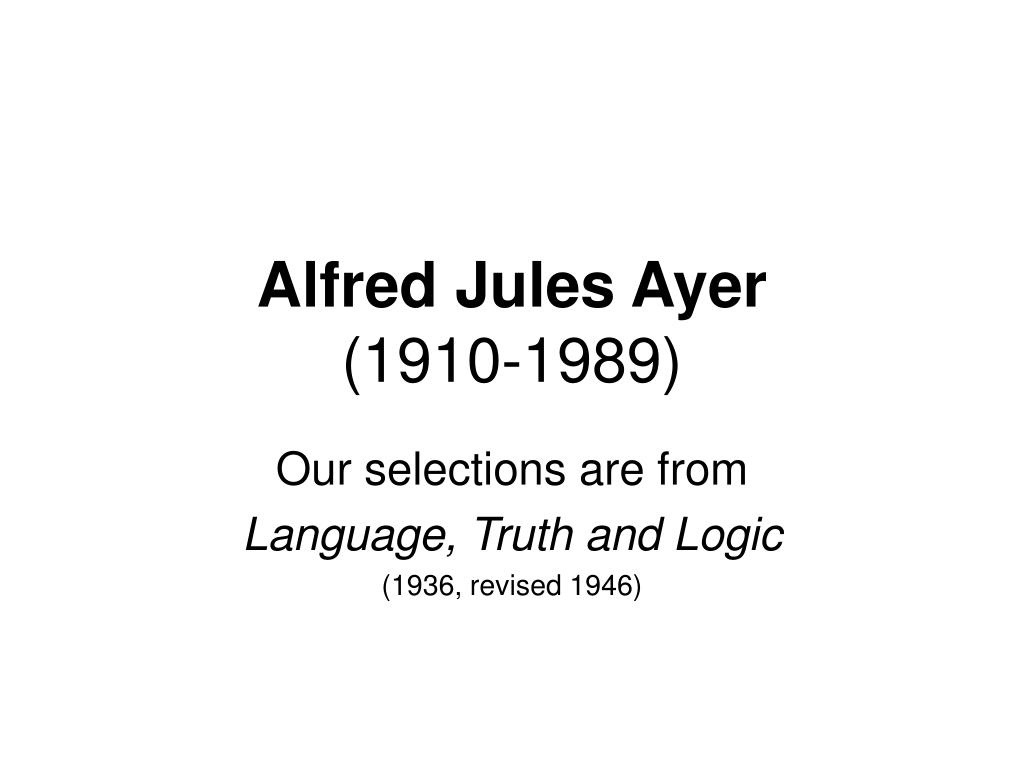 Alfred Jules Ayer