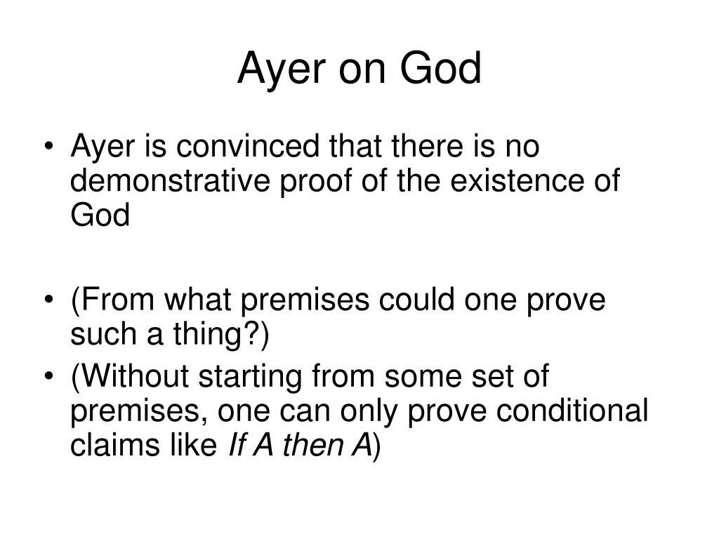 Ayer on God