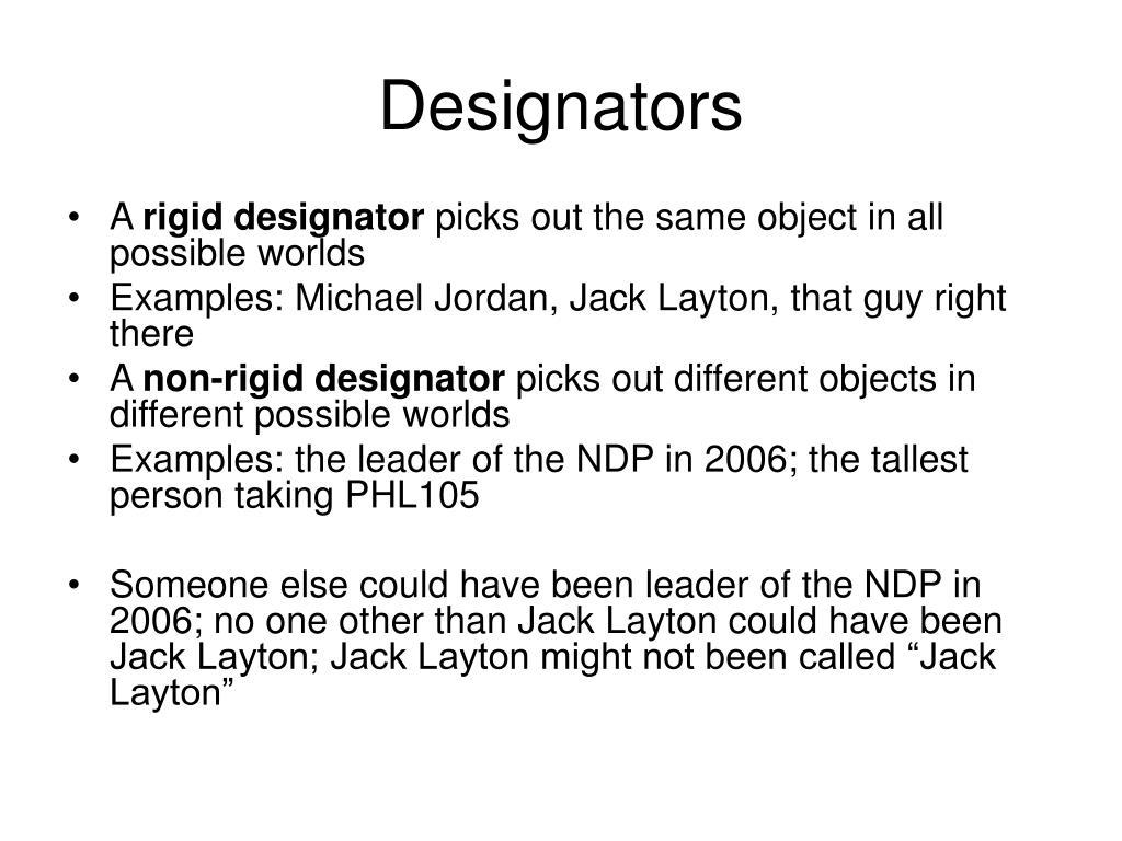 Designators