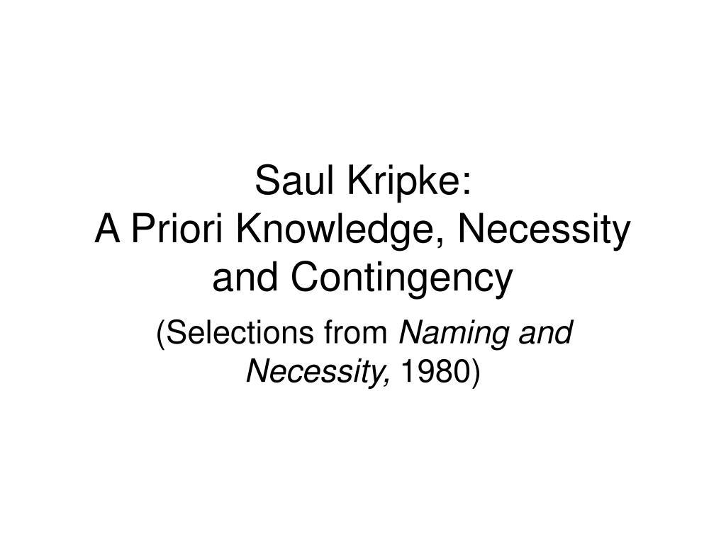 Saul Kripke: