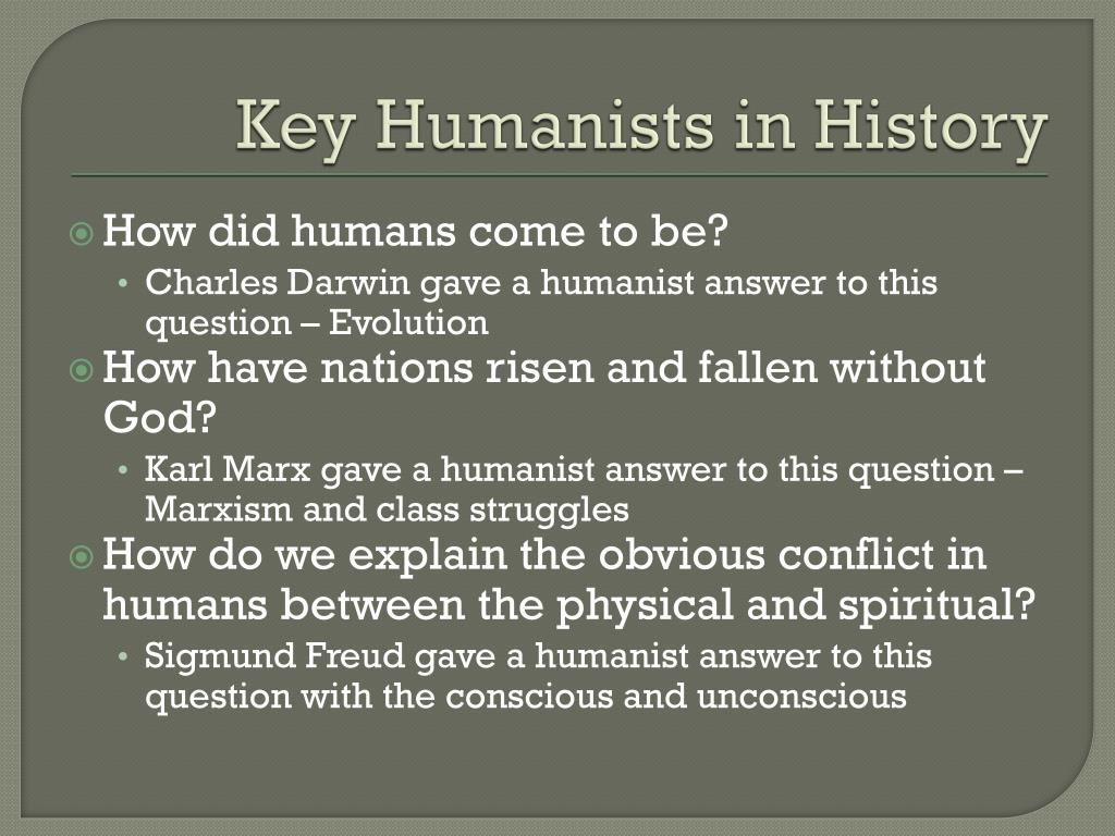 Key Humanists in History