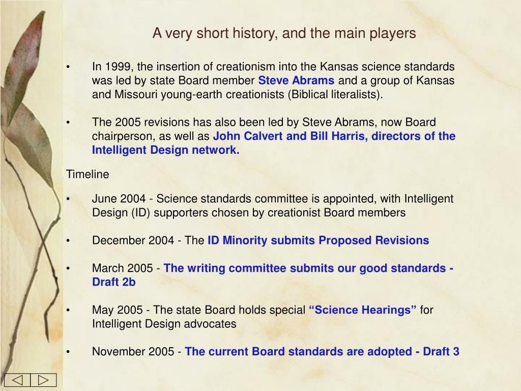 A very short history, and the main players