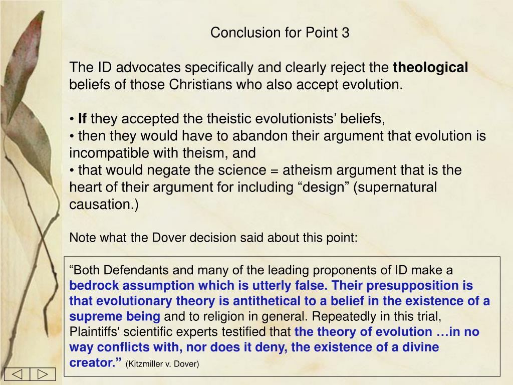 Conclusion for Point 3