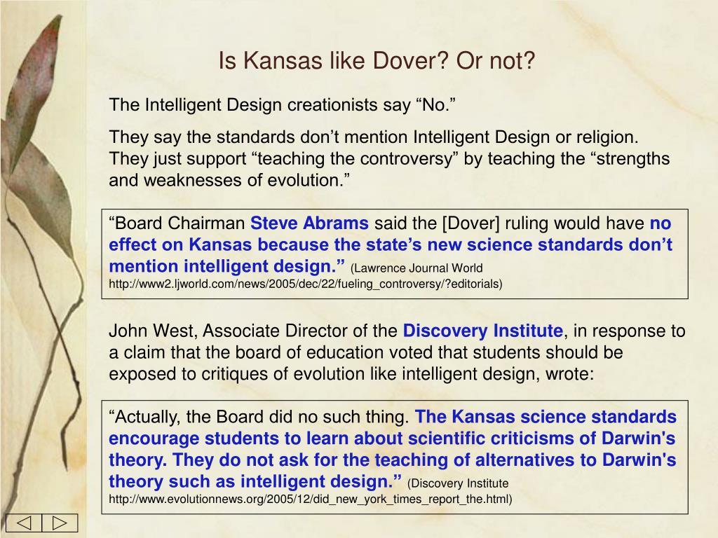 Is Kansas like Dover? Or not?