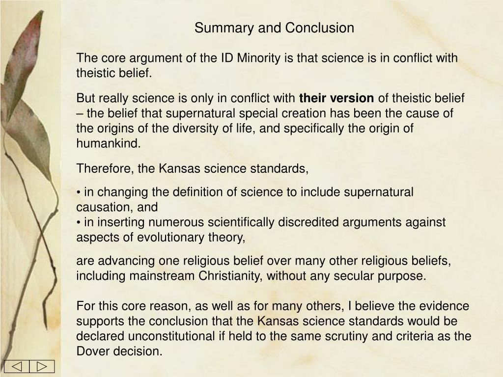Summary and Conclusion