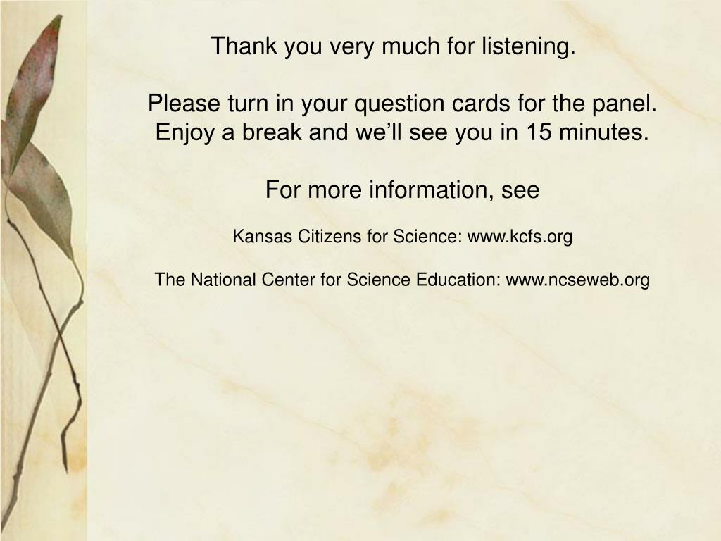 Thank you very much for listening.