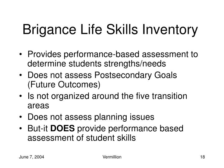 Brigance Life Skills Inventory